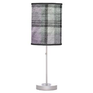 Purple & Black Plaid Lamp