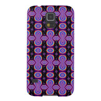 Purple Black Pop Art Pattern Galaxy S5 Cases
