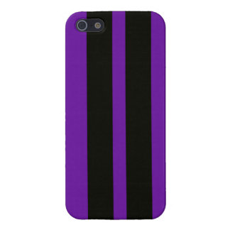 Purple Black Racing Stripes Iphone 5 Case