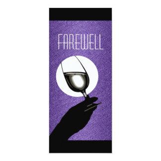 Purple black retirement party personalize card