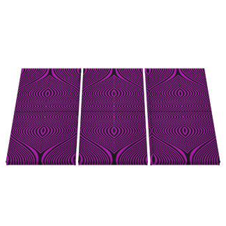 Purple Black Retro Style Swirly Optical Illusion Stretched Canvas Prints