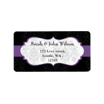 purple black  ,return address label