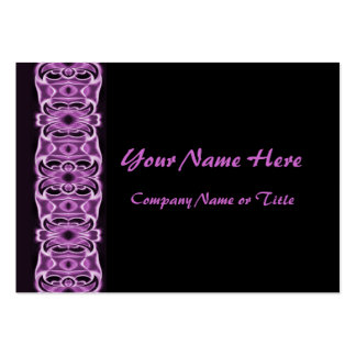 purple black ribbons large business cards (Pack of 100)