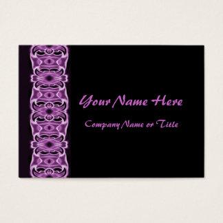 purple black ribbons business card