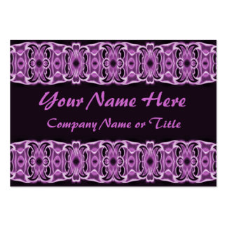 purple black ribbons business cards
