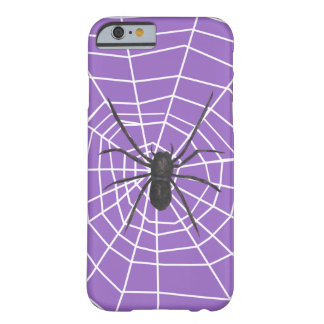 Purple/Black Spider Halloween Barely There iPhone 6 Case