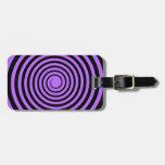 Purple & Black Spiral Customized Template Bag Tag