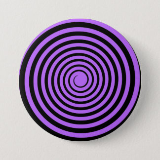 Purple & Black Spiral Customized Template Pinback Button