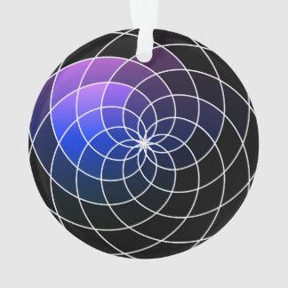 Purple & Black Spiral Design Ornament