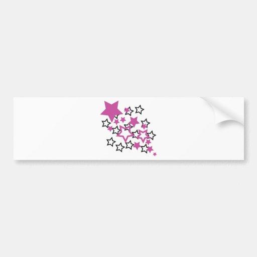 purple black stars bumper sticker