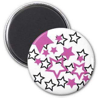 purple black stars magnet