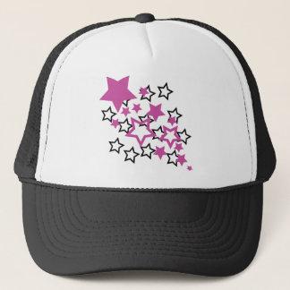 purple black stars trucker hat