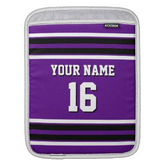 Purple Black Team Jersey Custom Number Name Sleeve For iPads