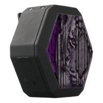 Purple Black Tiger Black Bluetooth Speaker