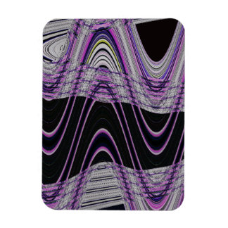 purple black wave abstract magnet