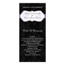 purple black Wedding program