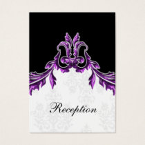 purple black wedding Reception Cards