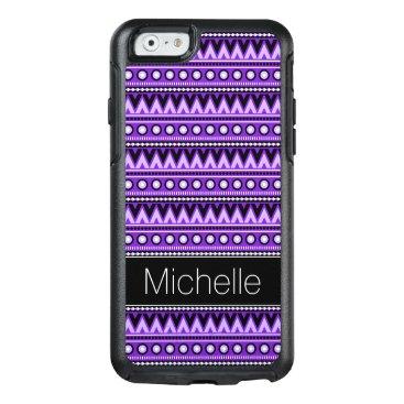 Aztec Themed Purple Black White Aztec OtterBox iPhone 6 Case