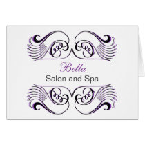 Purple black & white Chic Business Thank You Cards