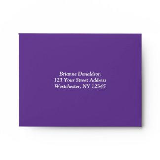 Purple, Black, White Damask A2 Envelope for RSVPs