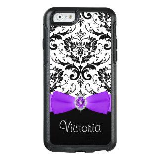 Purple Black White Damask Otterbox iPhone 6 Case