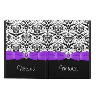 Purple Black White Damask Powis iPad Air 2 Case