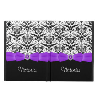 Purple Black White Damask Powis iPad Air Case