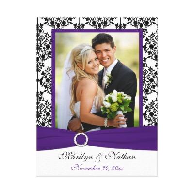 purple and teal wedding ideas