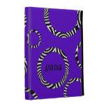 Purple Black White Stripe Rings iPad (1,2,3) Folio iPad Folio Cases