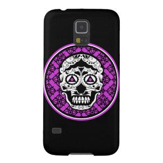 Purple Black white sugar skull style Galaxy S5 Cover