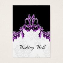 purple black wishing well cards