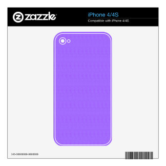 Purple Blank Texture Template DIY add TEXT IMAGE Decal For The iPhone 4
