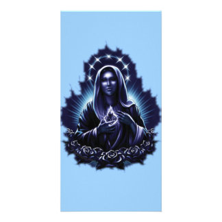 Purple Blessed Virgin Mary Photo Card