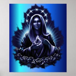 Purple Blessed Virgin Mary Print