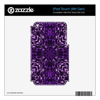 Purple Bling Abstract iPod Touch 4G Decals