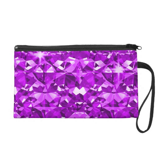 Purple Bling Diamonds Wristlet
