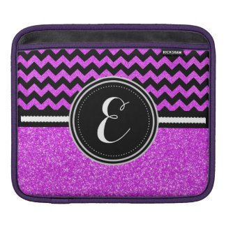 Purple Bling Glitter and Chevron Personalized Case