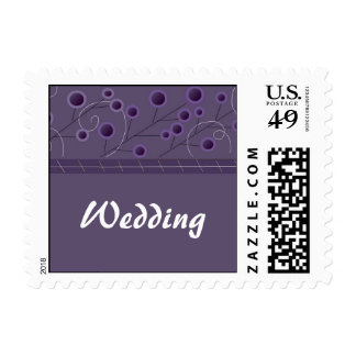 Purple Bliss Floral Wedding Postage