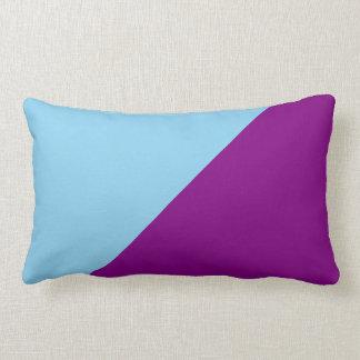 Purple & Blizzard Blue Solid Color Background Pillow