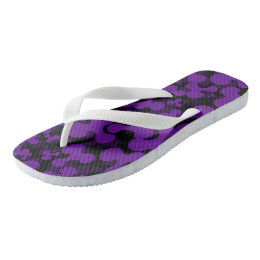 Purple Blob Flip Flops