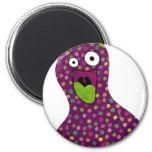 Purple Blob Monster Magnet