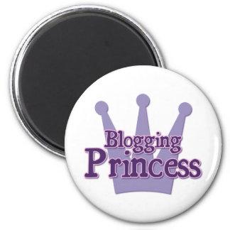 Purple Blogging Design 2 Inch Round Magnet