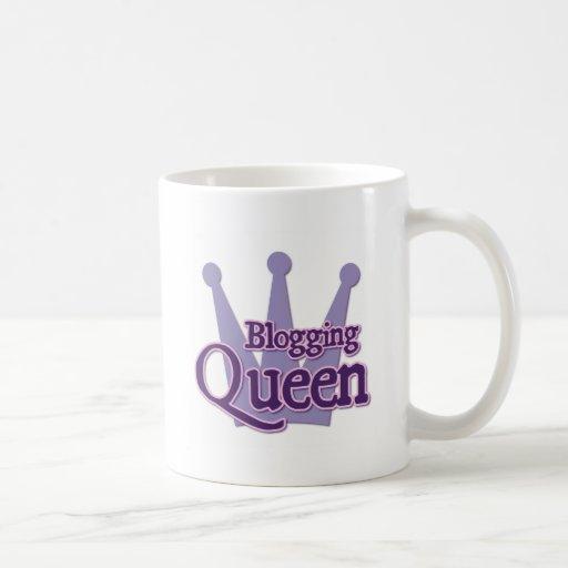 Purple Blogging Design Classic White Coffee Mug