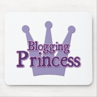 Purple Blogging Design Mouse Pad
