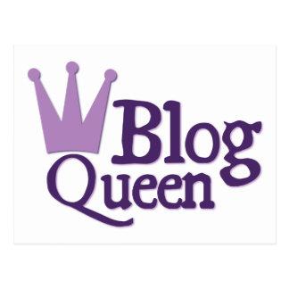 Purple Blogging Design Postcard