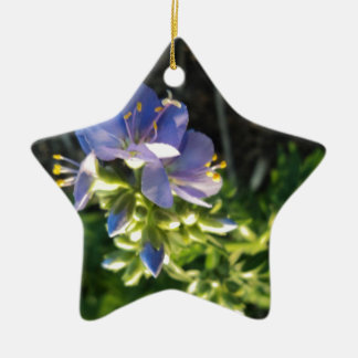 Purple Bloom Ceramic Ornament