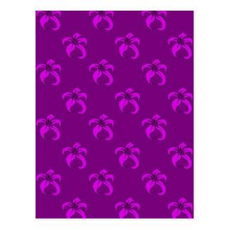 Purple bloom postcard
