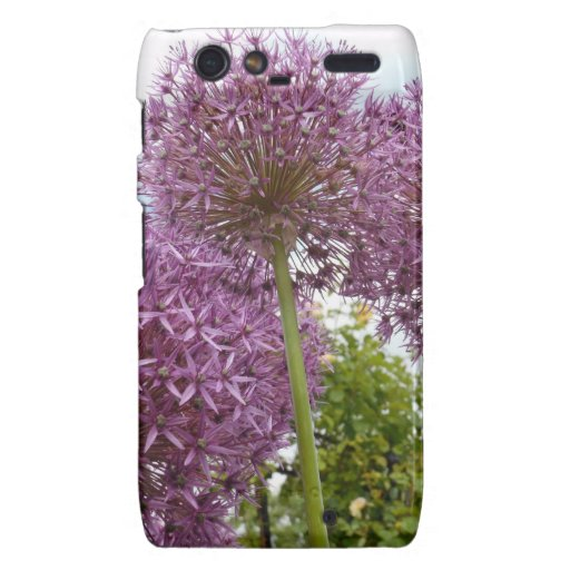 Purple bloom very much exotic and beautiful droid RAZR case
