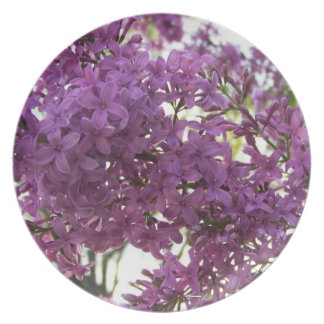 Purple Blooming Lilac Plate