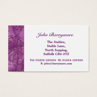 Purple Blooms Business Card